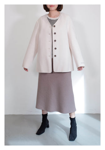 Daily Short Wool Coat White