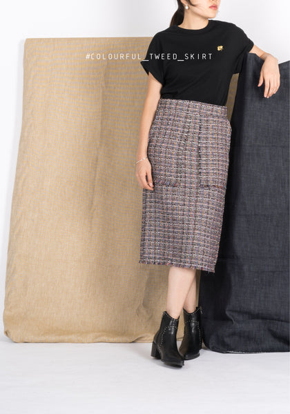 Colourful Tweed Skirt