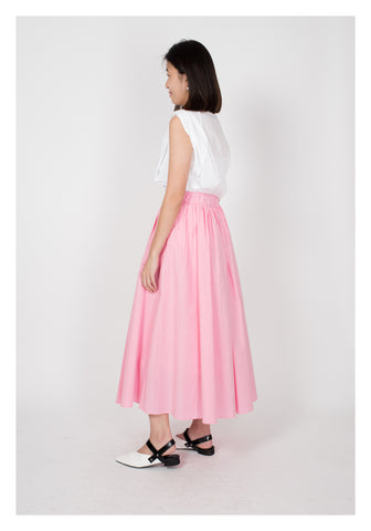 Comfy Simple Skirt Pink