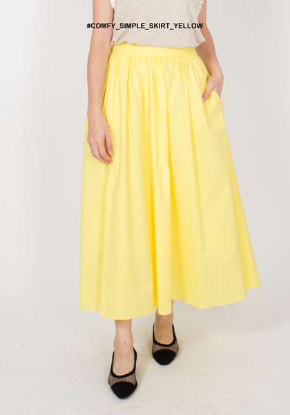 Comfy Simple Skirt Yellow