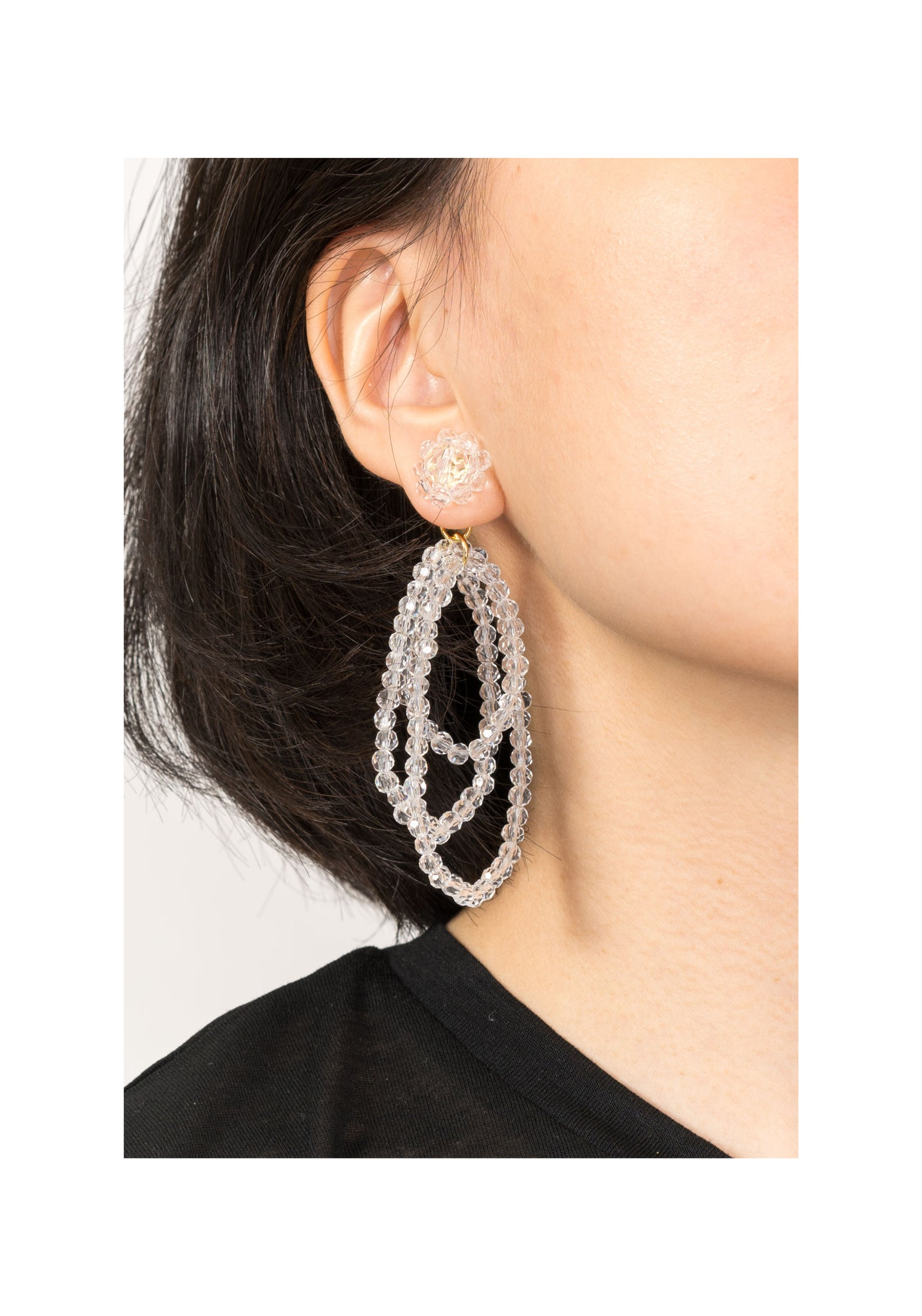 Jelly Beads Dripping Earrings Clear - whoami