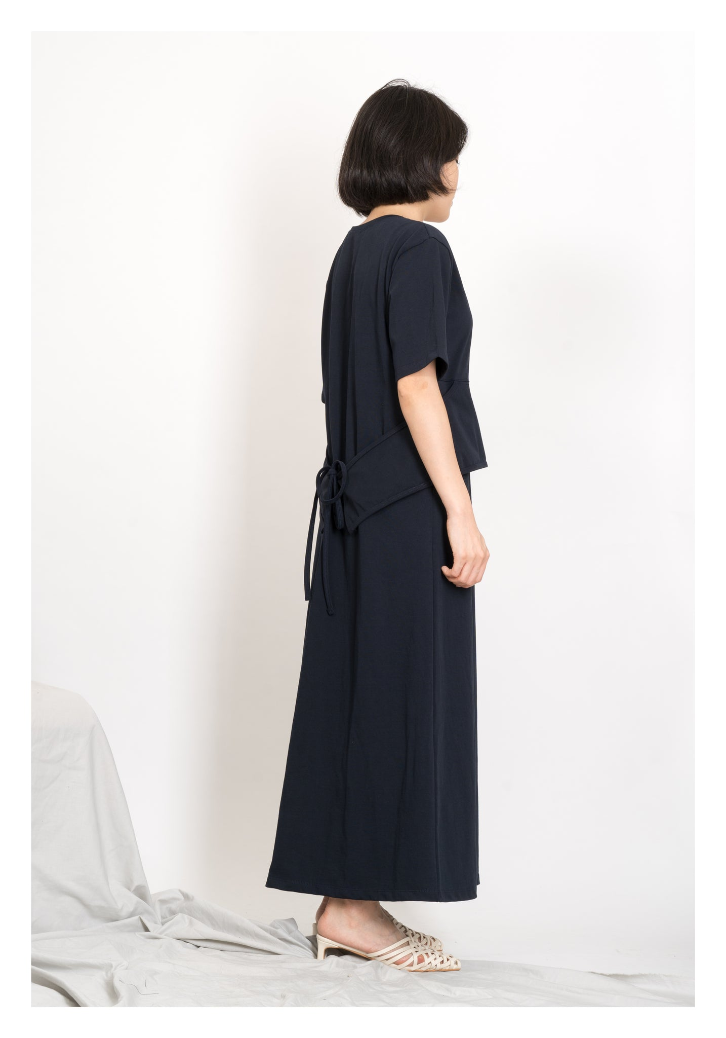 Cotton Belt Essential Dress Navy - whoami