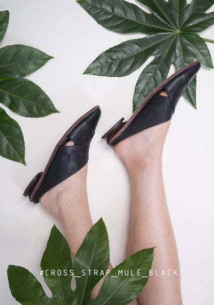 Cross Strap Mule Black - whoami