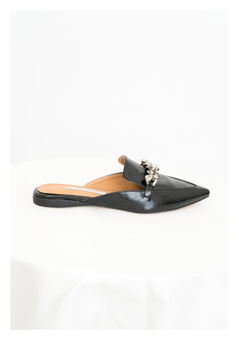 Chain Gem Pointed Mules - whoami
