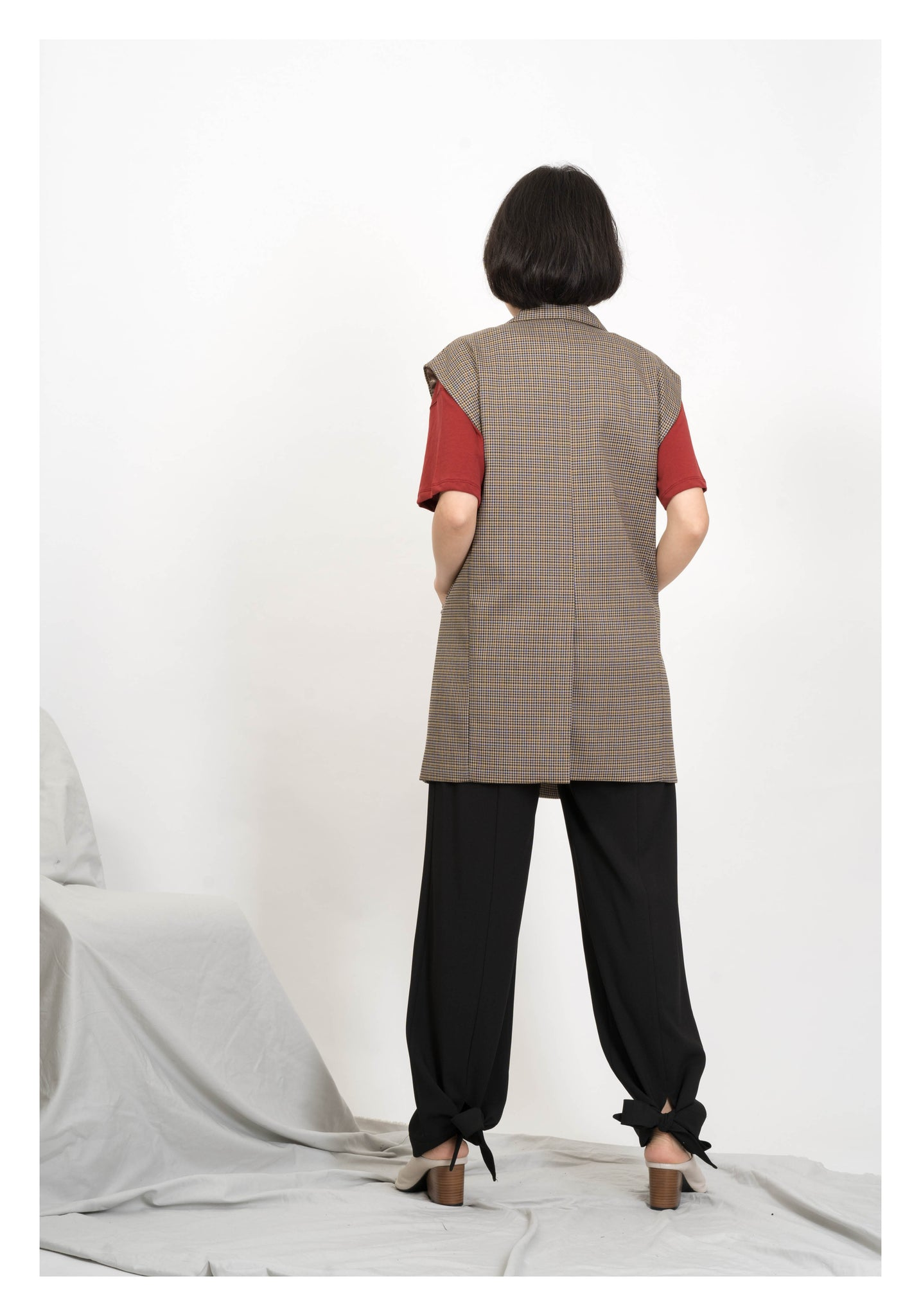 Checker Tailor Vest Jacket