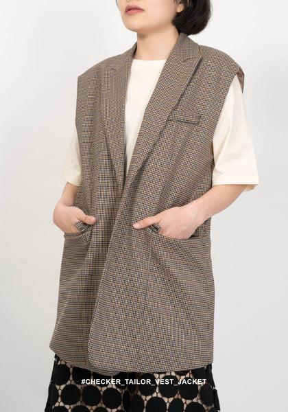 Checker Tailor Vest Jacket - whoami