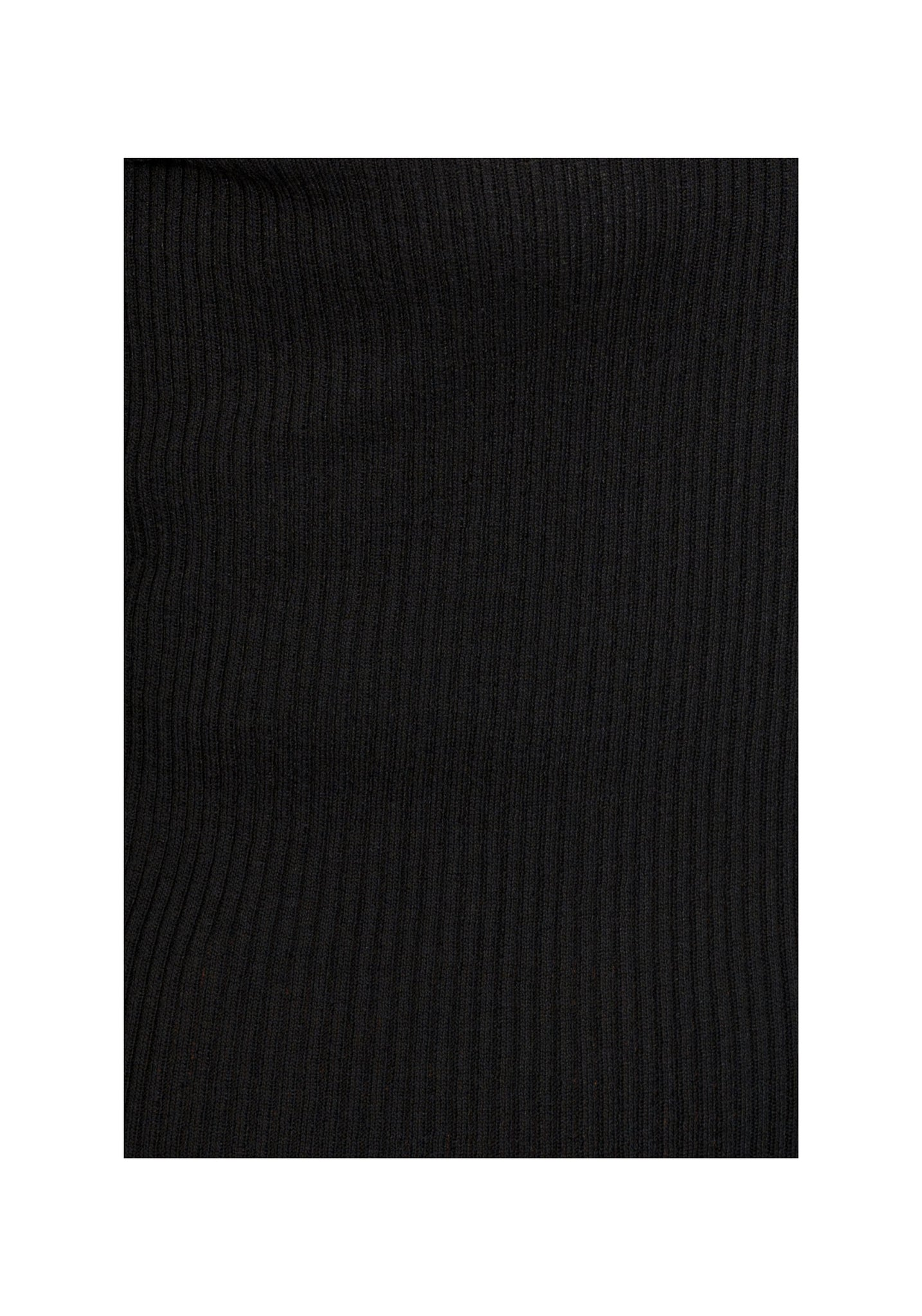 Classic Ribbed Thick Crew Neck Top Black - whoami
