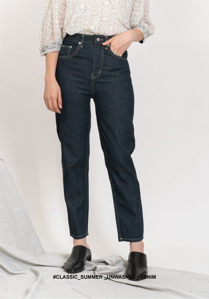 Classic Summer Unwashed Denim