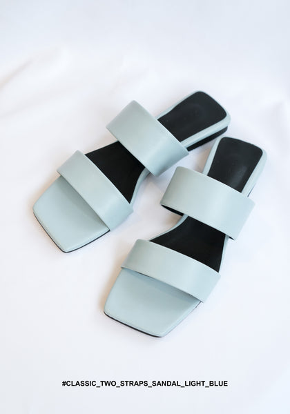Classic Two Straps Sandal Light Blue