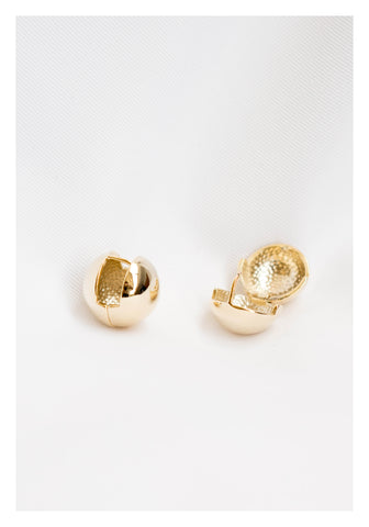 Clipping Ball Earrings Gold - whoami