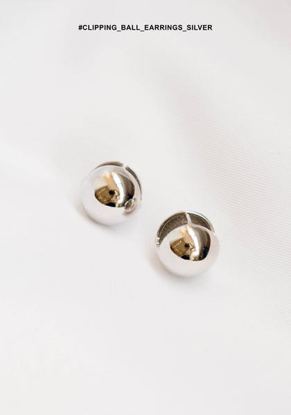 Clipping Ball Earrings Silver - whoami