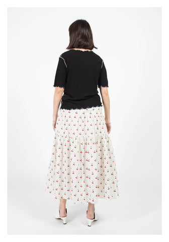 Cherry Tiered Skirt