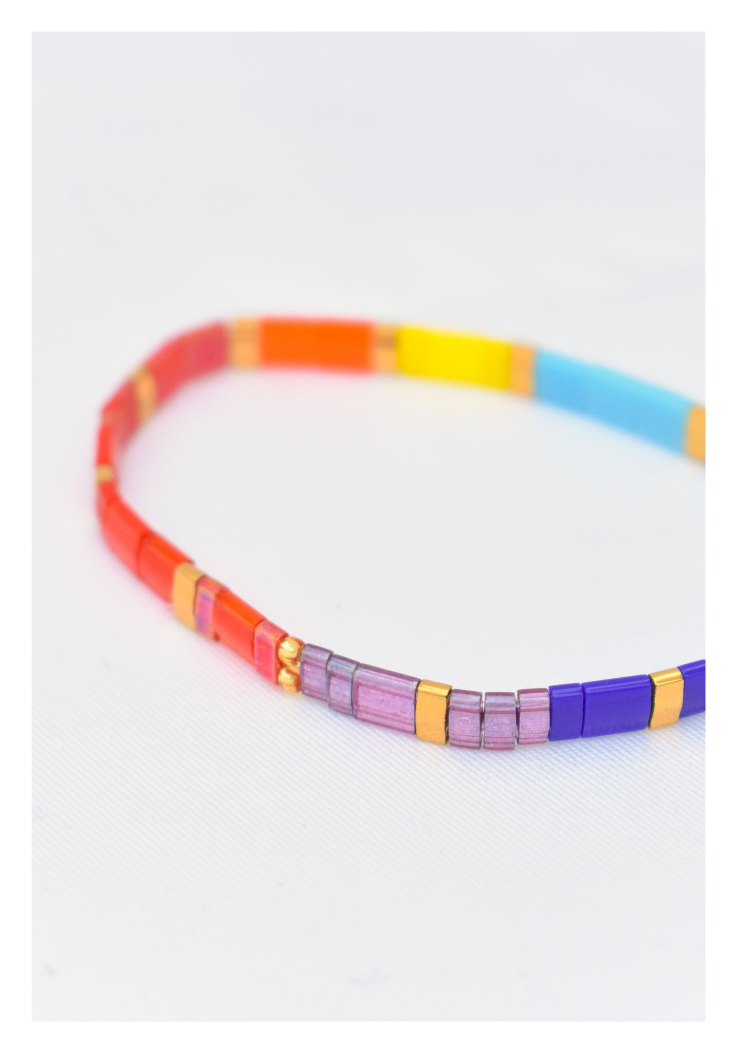 Colour Block Jelly Cubic Bracelet - whoami