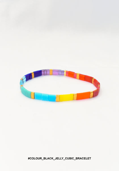 Colour Block Jelly Cubic Bracelet