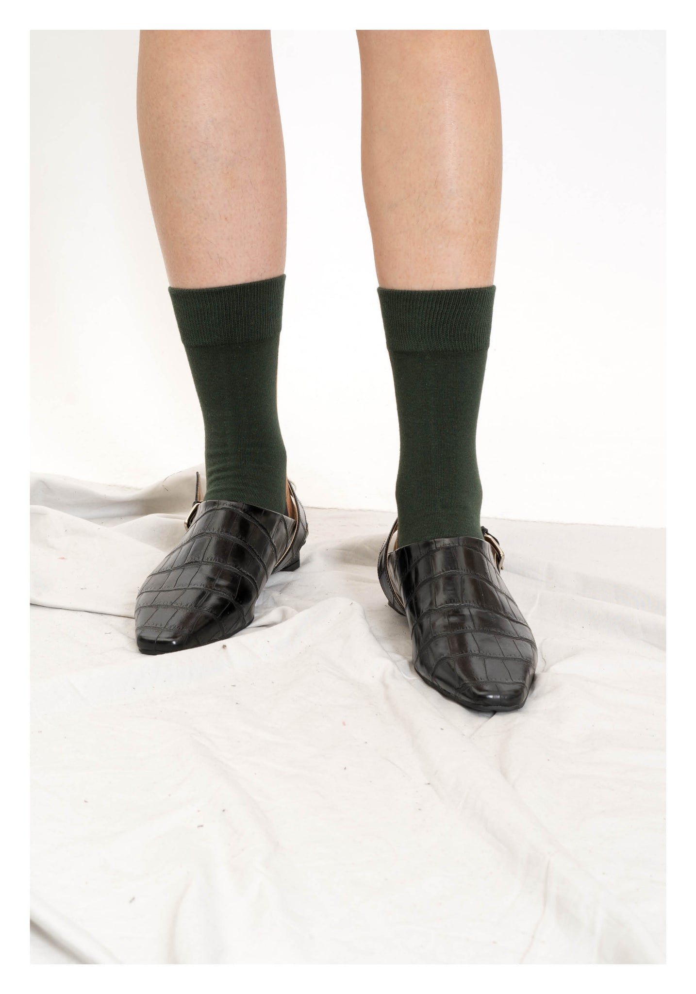 Colour Block Socks Brown And Green - whoami