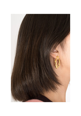 Organic Shape Golden Earrings - whoami