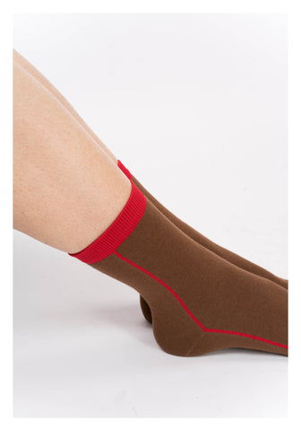 Colour Line Socks Brown - whoami