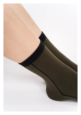 Colour Line Socks Military Green - whoami