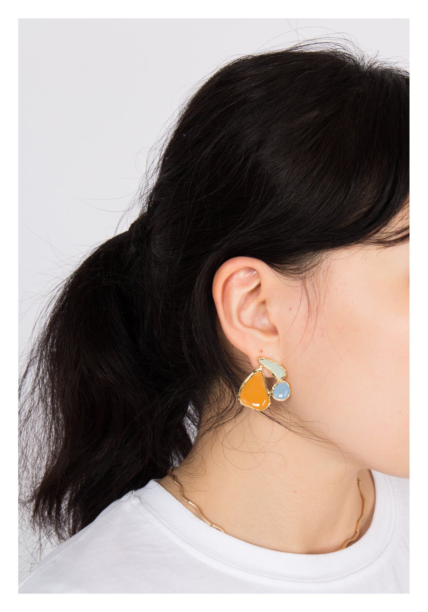 Colour Patches Earrings Orange - whoami