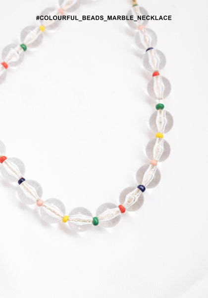 Colourful Beads Marble Necklace - whoami