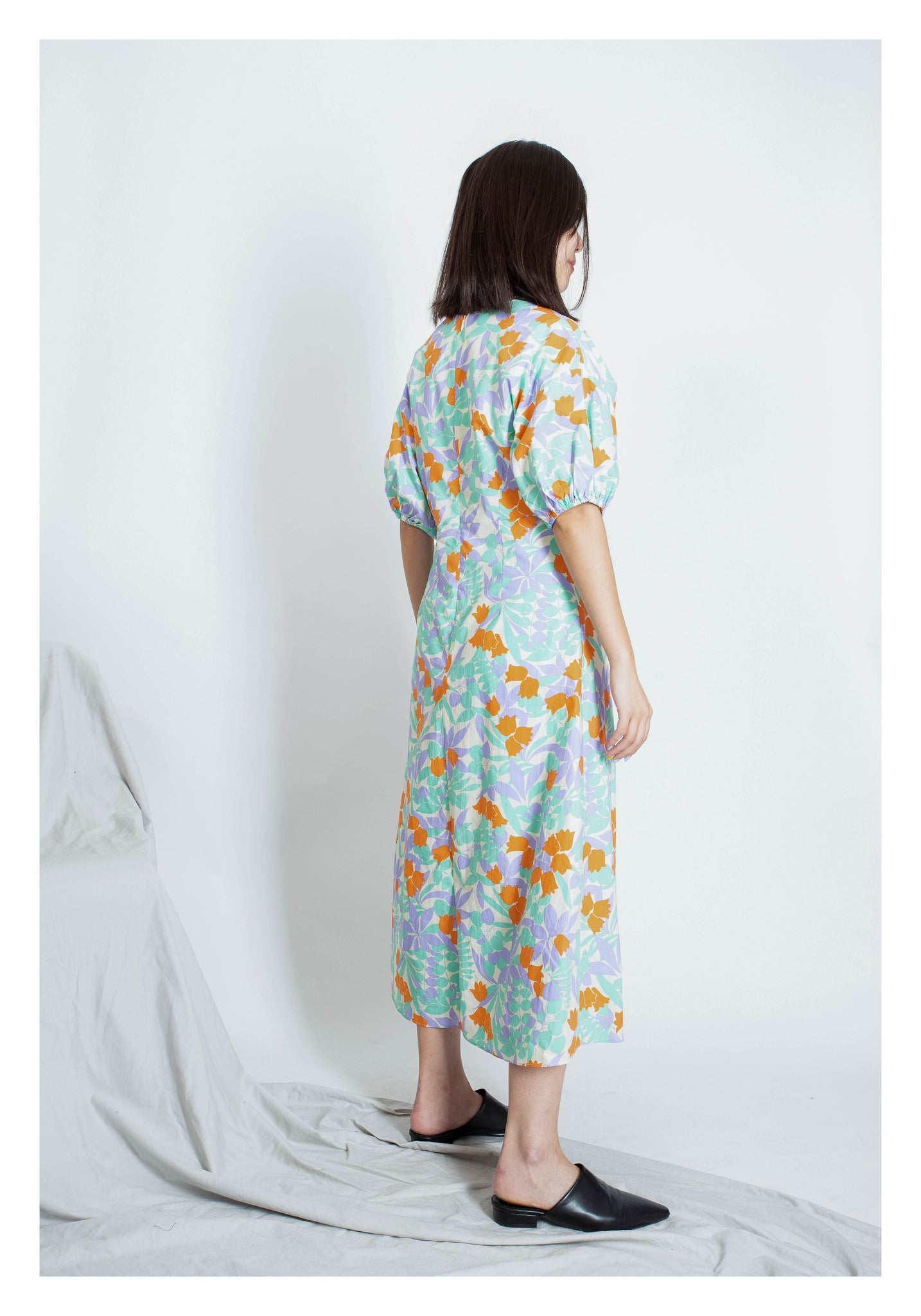Colourful Pattern Dress Mint - whoami