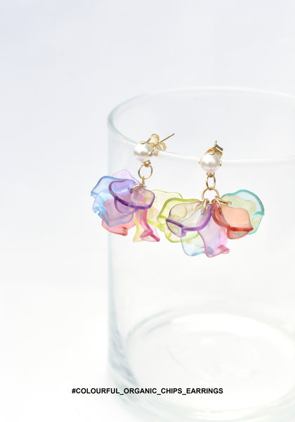 Colourful Organic Chips Earrings - whoami