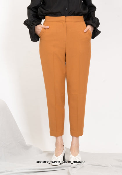 Comfy Taper Pants Orange - whoami