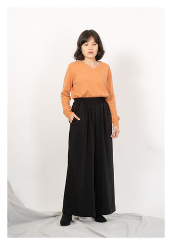 Comfy Wide Dripping Pants Black - whoami