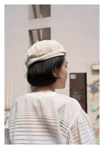 Cotton Kntted Beret Ivory - whoami