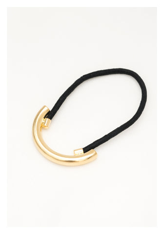 Curve Tube Hairband Gold - whoami