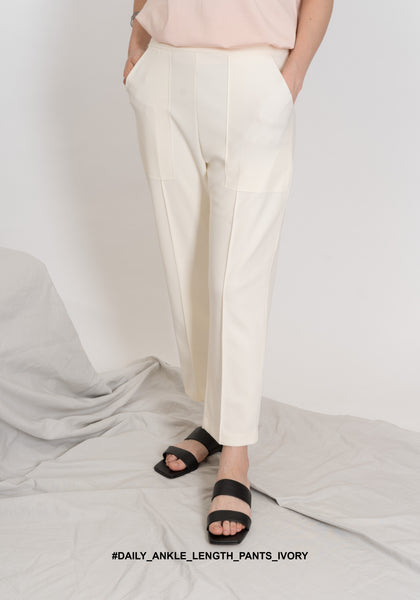 Daily Ankle Length Pants Ivory - whoami