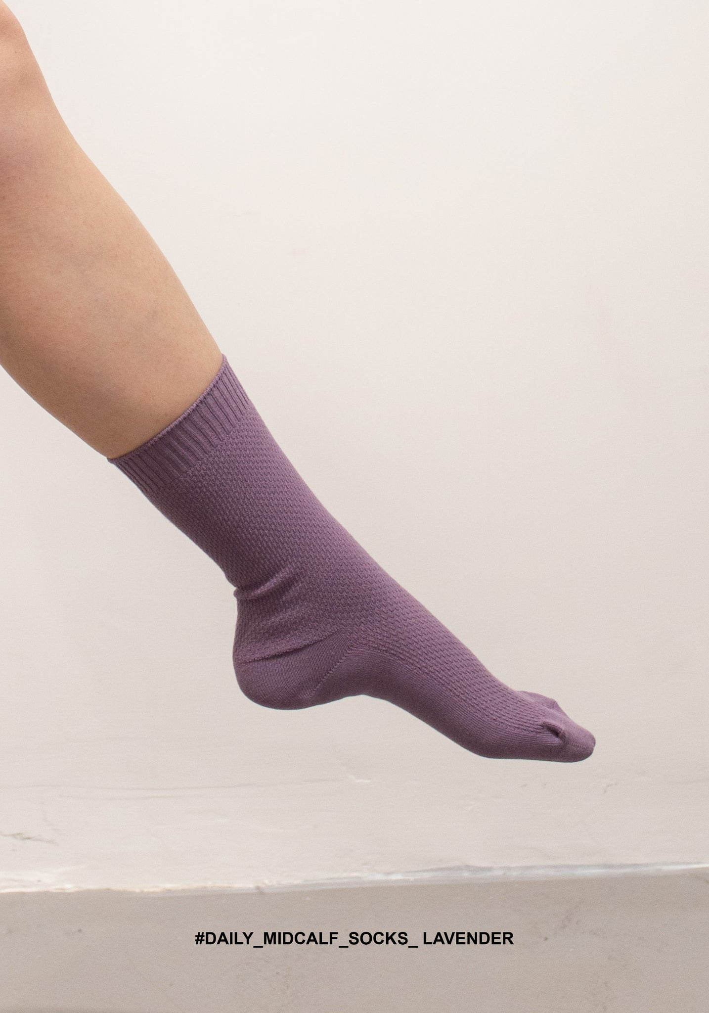 Daily Midcalf Socks Lavender - whoami