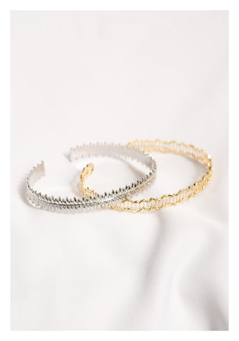 Die Cut Irregular Edge Bangle Gold - whoami