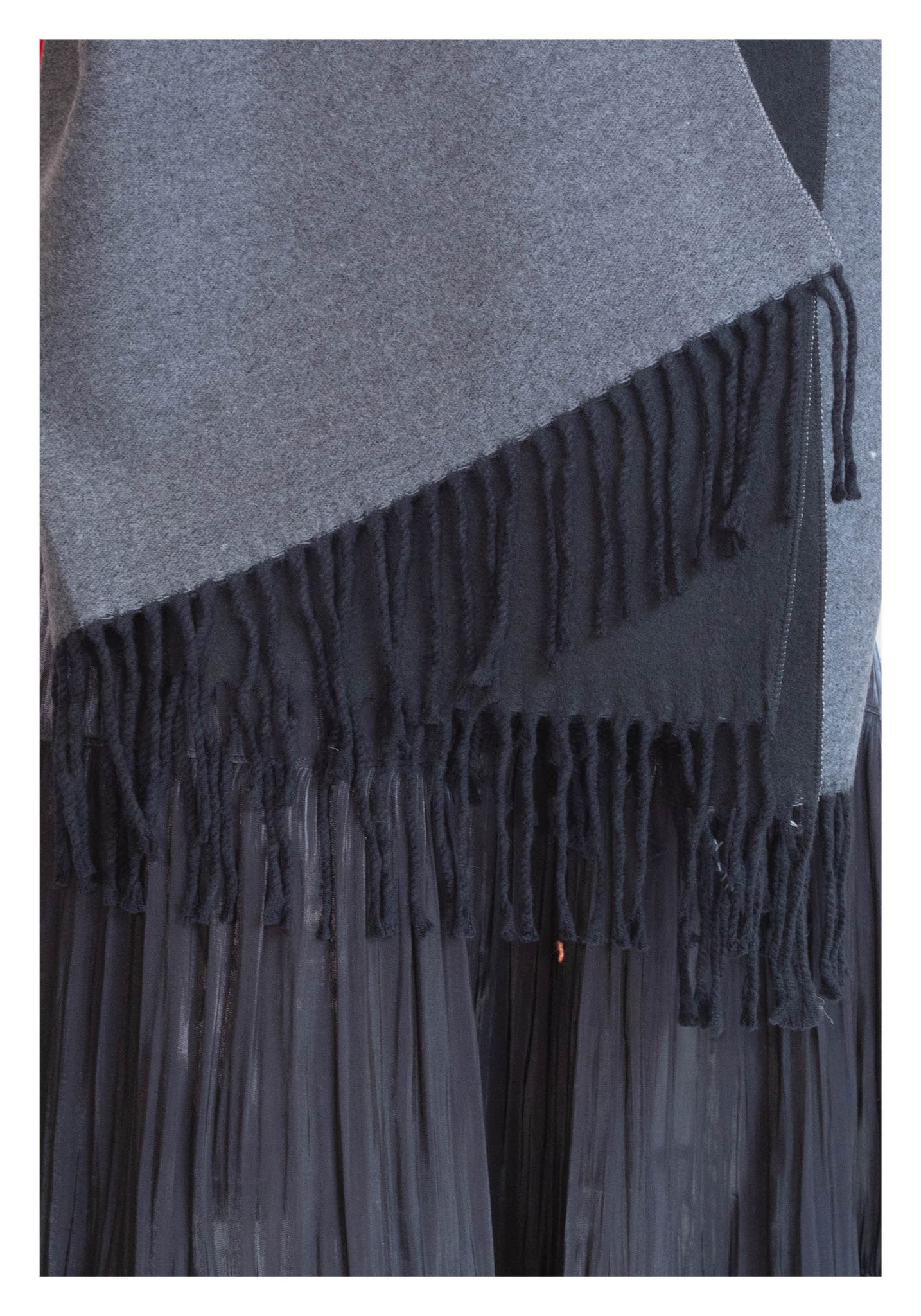 Double Face Cashmere Scarf Black - whoami