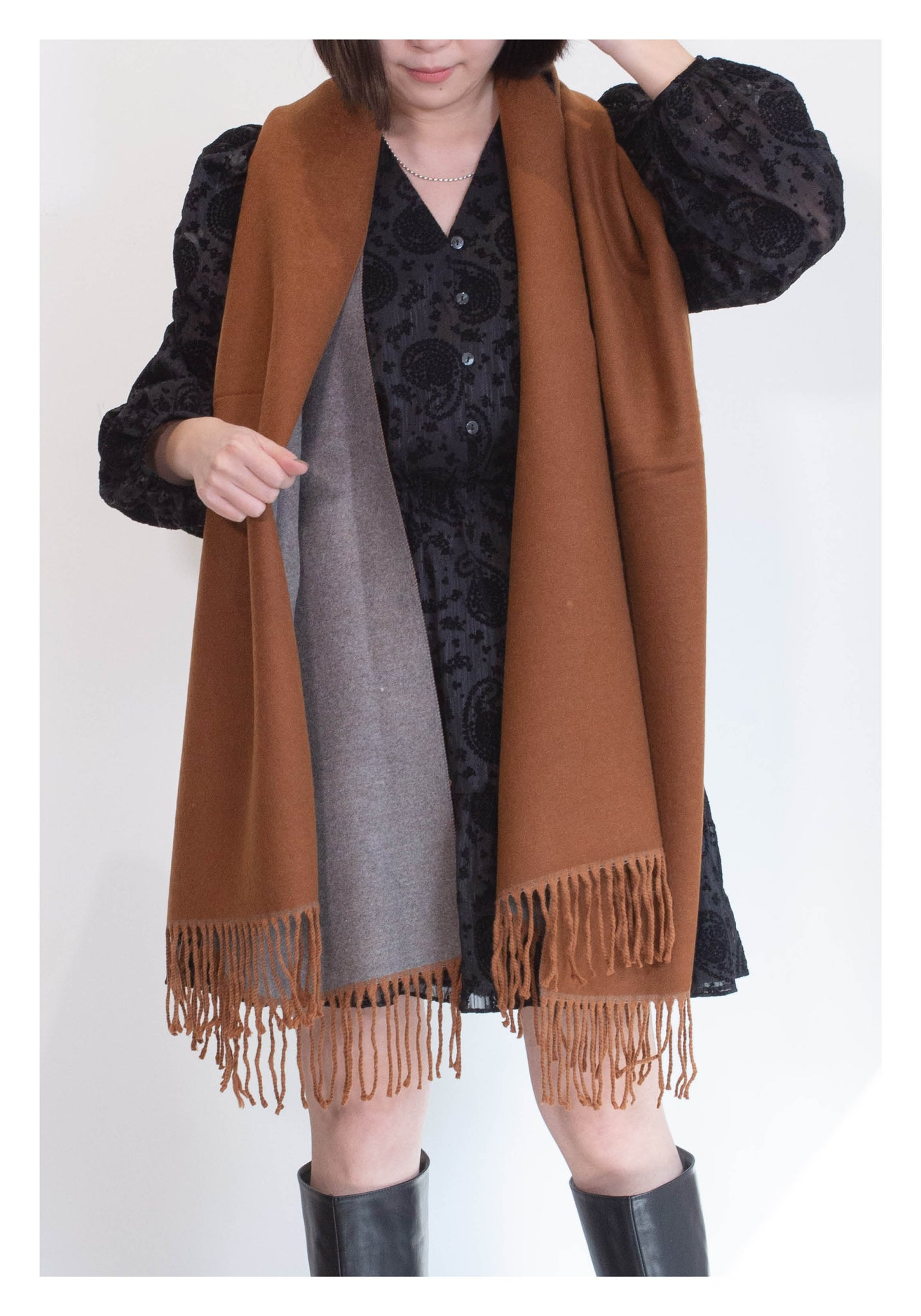 Double Face Cashmere Scarf Caramel - whoami