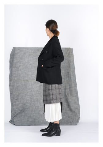 Double Breast Light Wool Coat