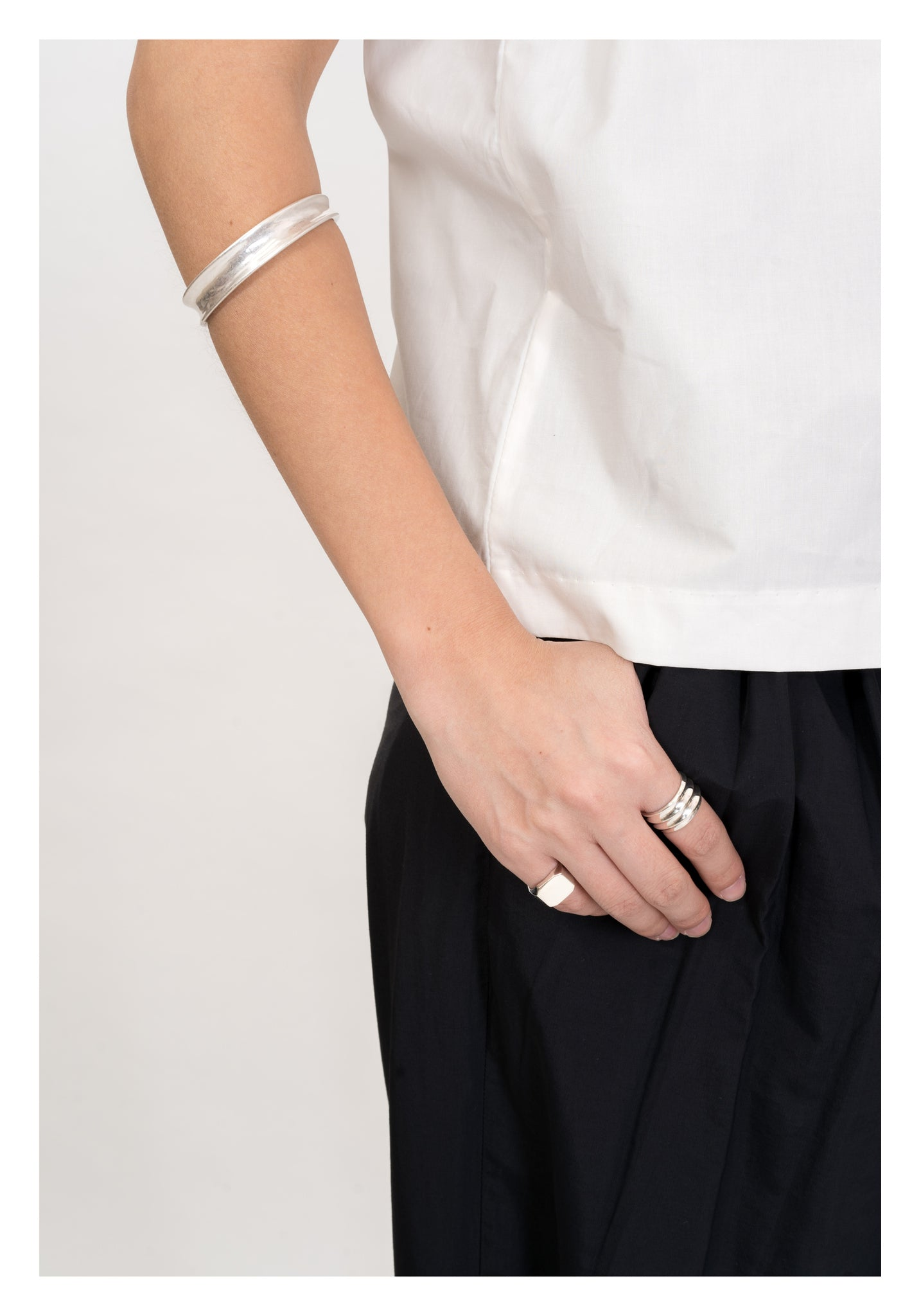 925 Silver Ribbed Ring - whoami