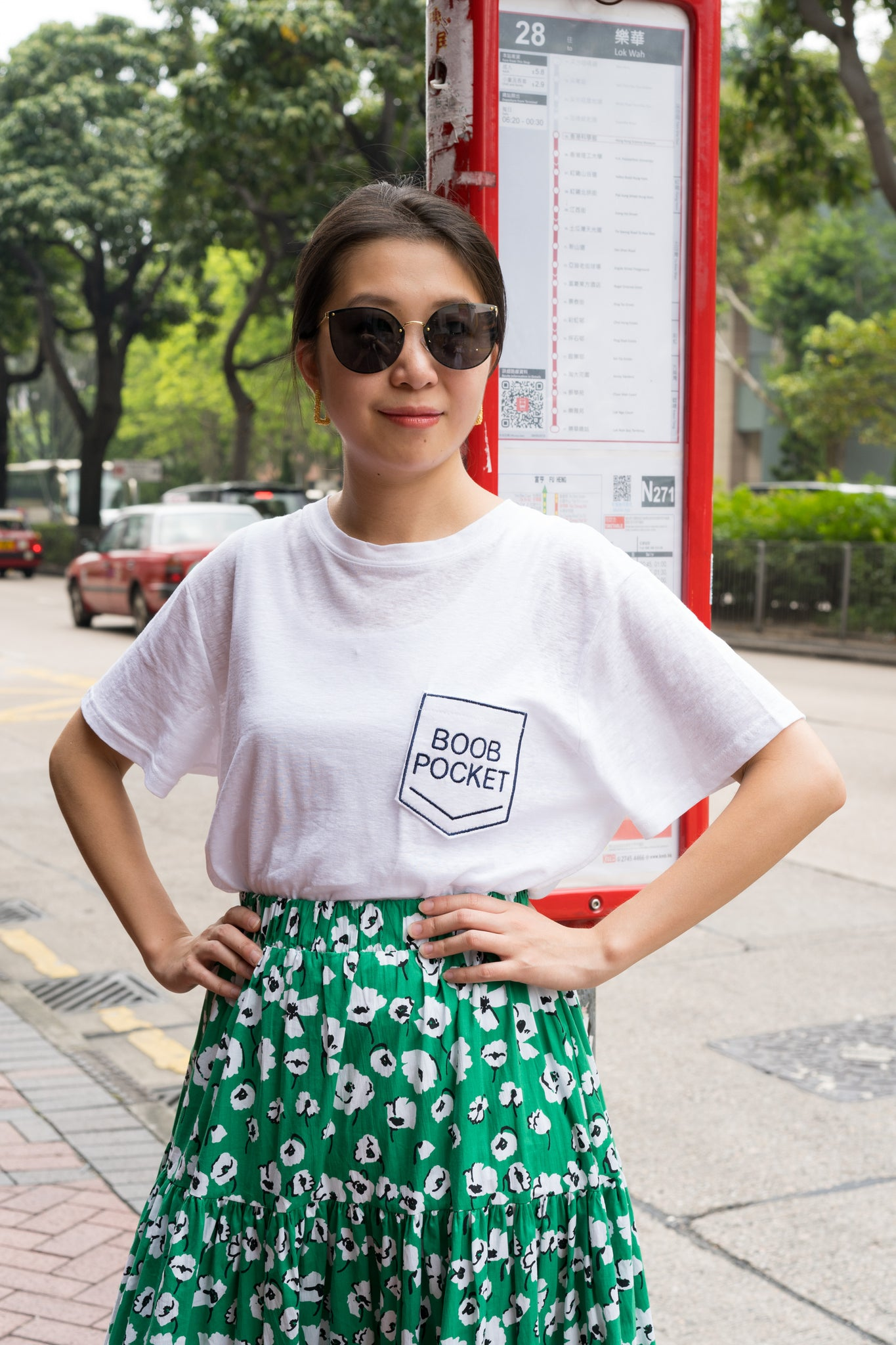 Boob Pocket Tee White