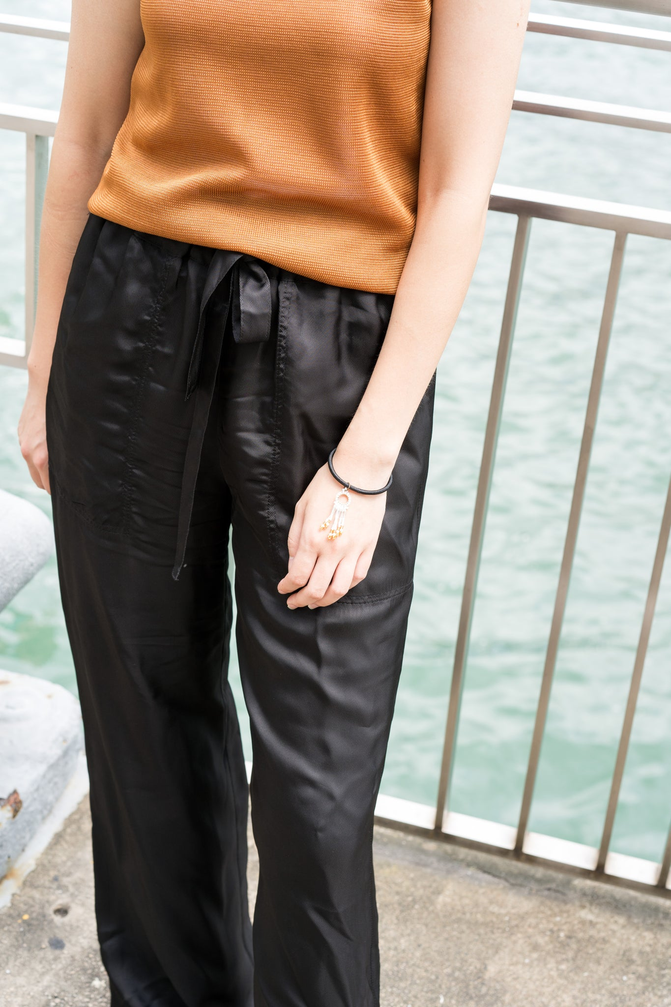 Drawstring Drape Pants