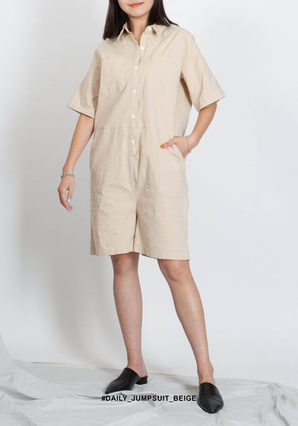 Daily Jumpsuit Beige - whoami