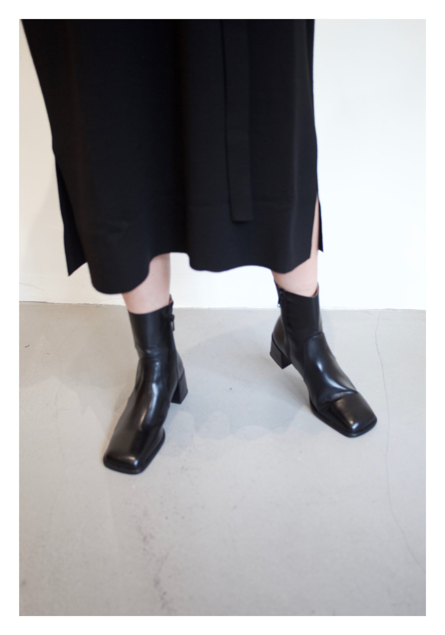 Daily Square Head Boots Black - whoami