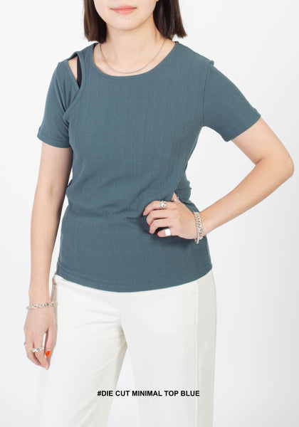 Die Cut Minimal Top Blue