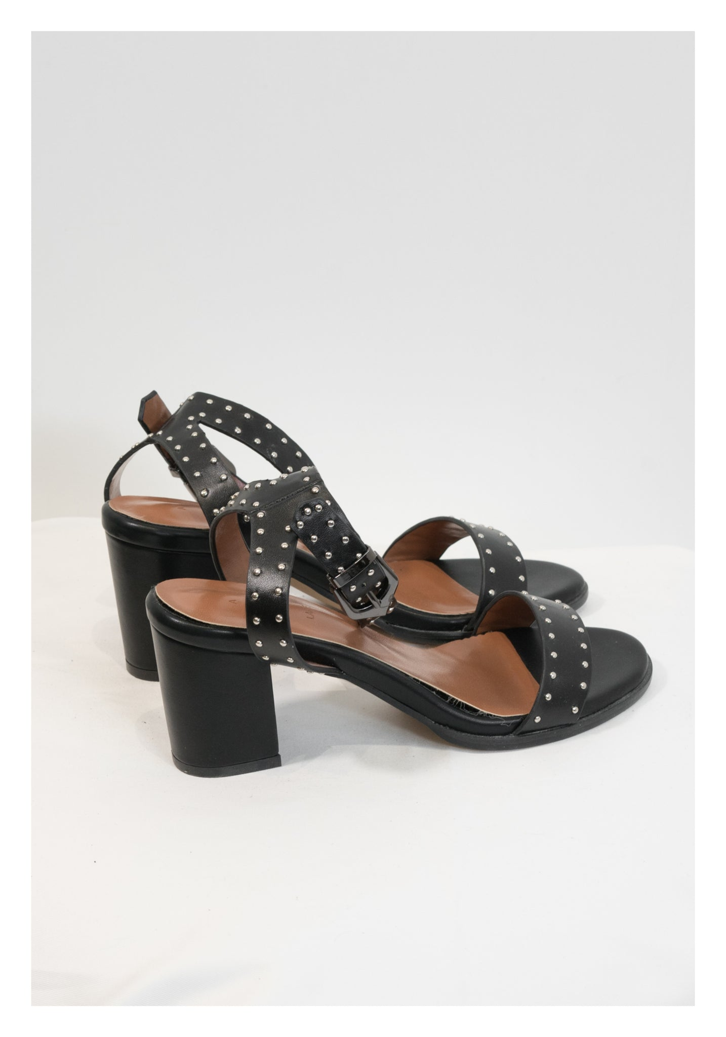 Sample Dotted Strap Heels Sandals - whoami