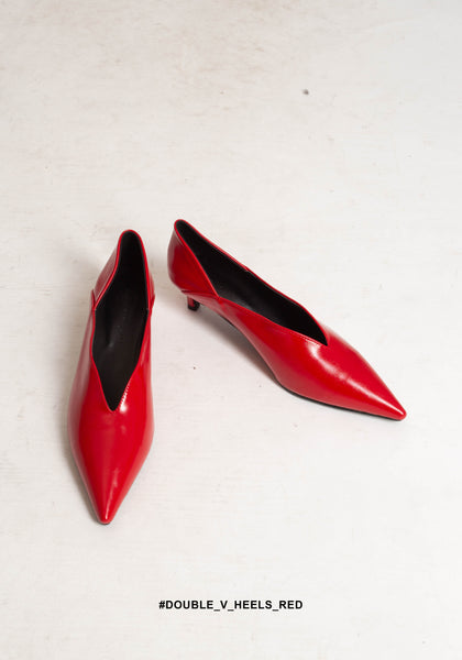 Double V Heels Red - whoami