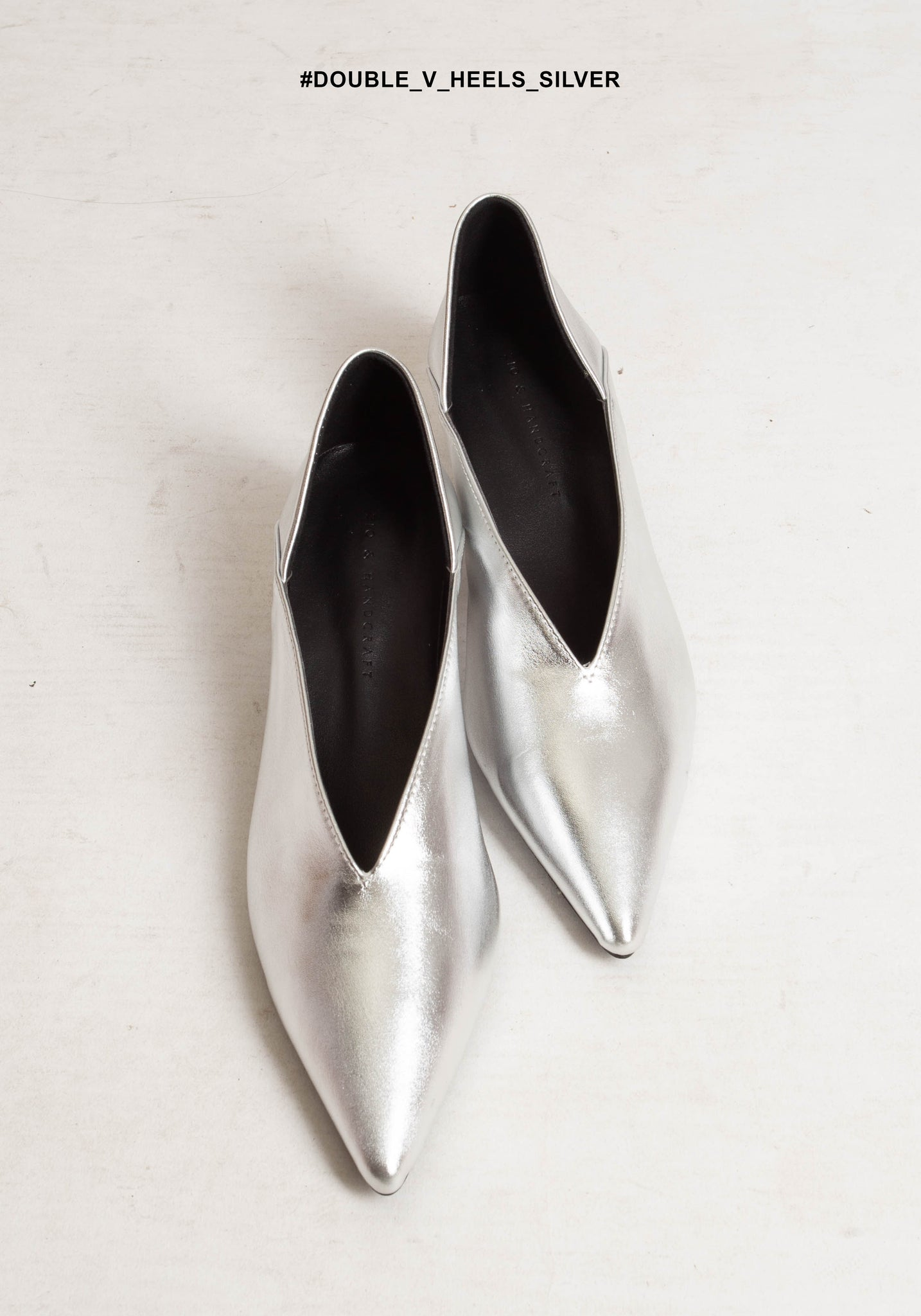Double V Heels Silver - whoami