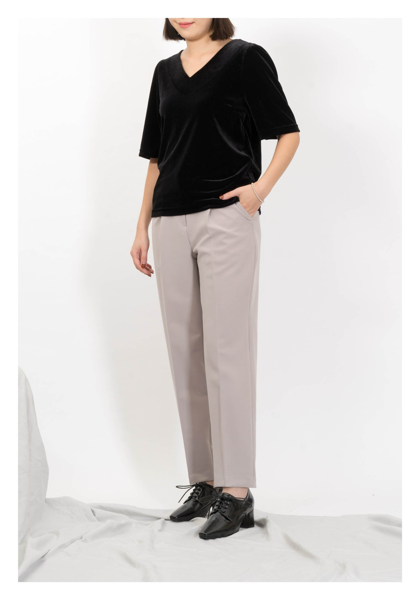 Double Stitch Taper Pants Grey - whoami