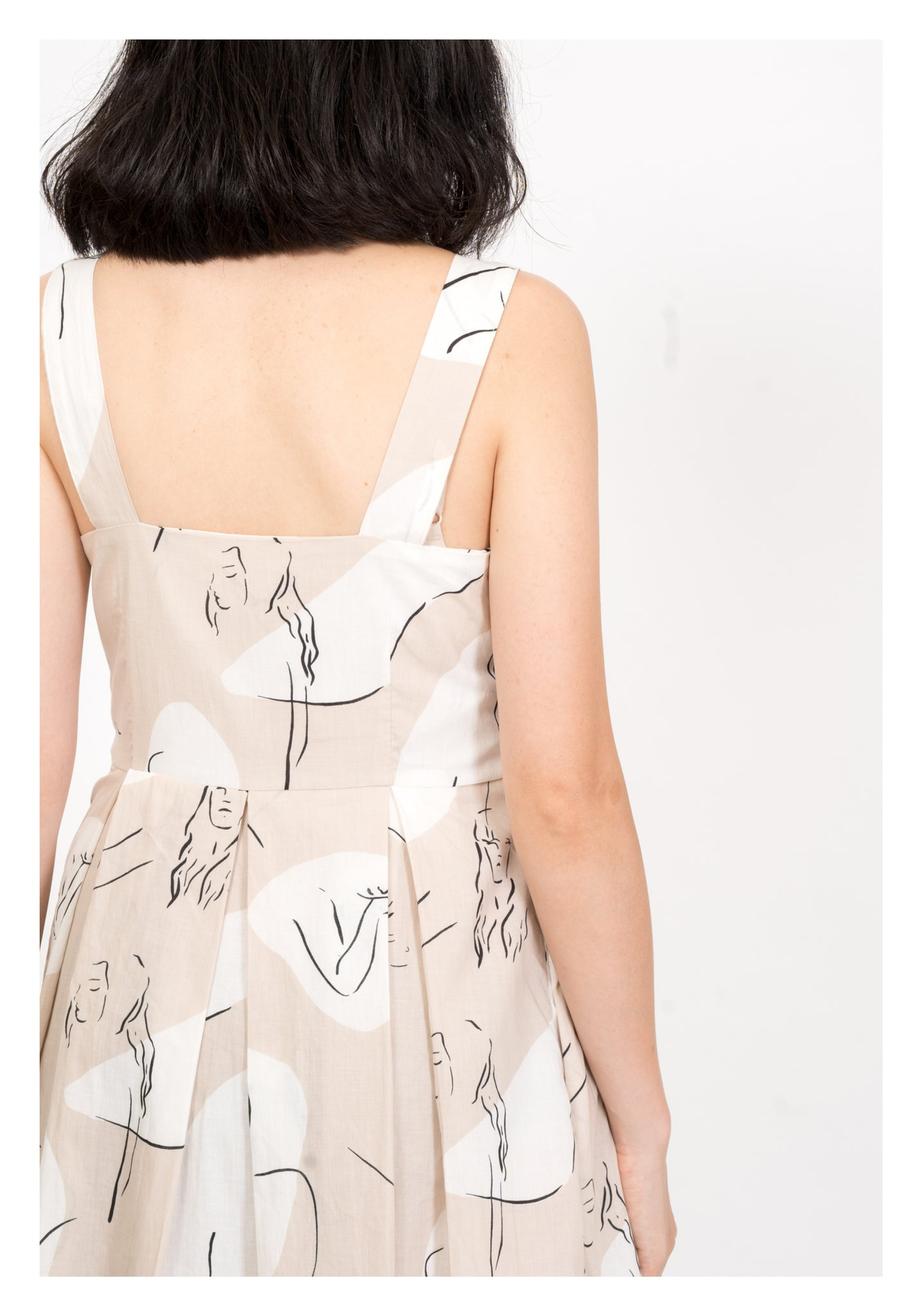 Drawing Dress Beige