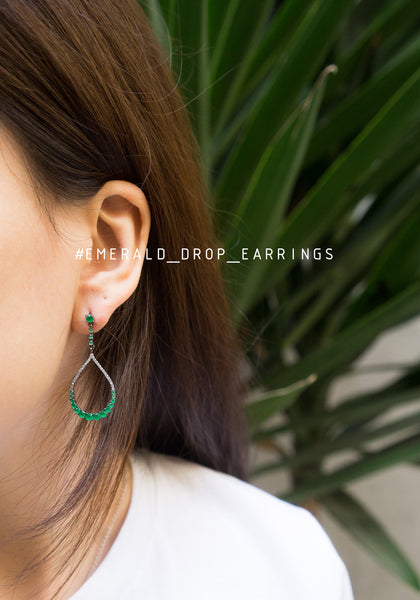 Emerald Drop Earrings - whoami