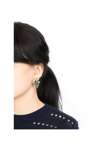 Sparkle Big Cactus Earrings - whoami
