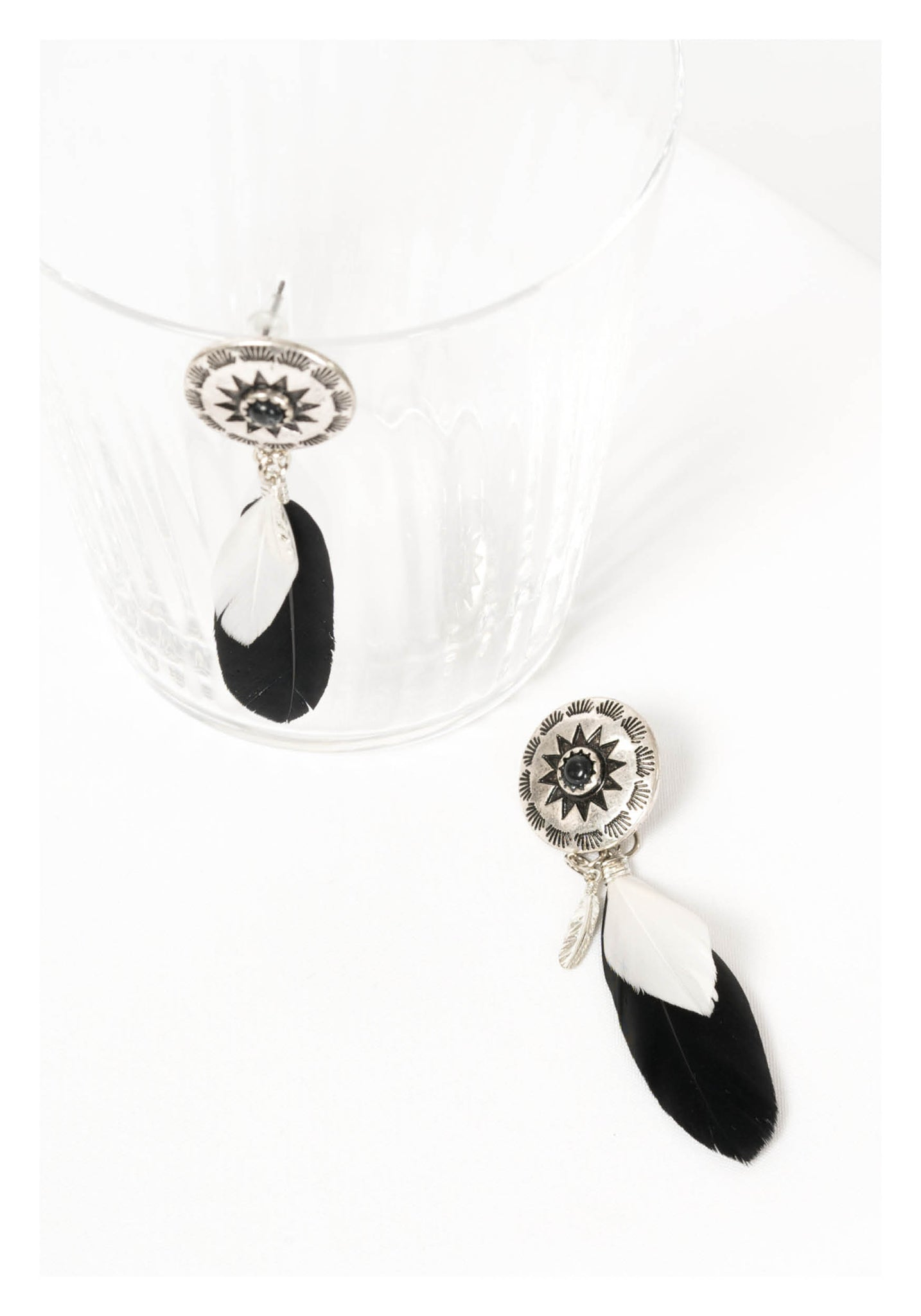 Engraved Faux Leather Earrings - whoami